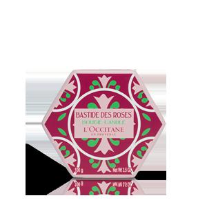 Glaskerze Rose 100 g