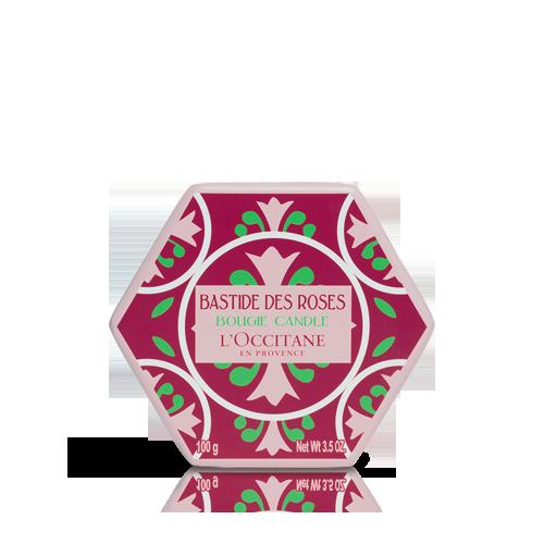 Rose Glaskerze 100 g