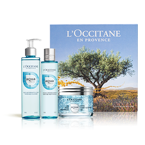 Aqua Réotier Geschenkbox mitGesichtsgel - L'OCCITANE
