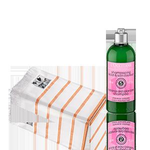Duo Glanz & Farb-Schutz Shampoo und Fouta-Tuch