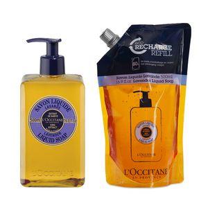 Duo Lavendel Flüssigseife und Nachfüllpackung