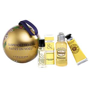Goldene Weihnachtskugel von L'OCCITANE & My Little Paris
