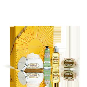 Körperpflege-Geschenkbox Mandel