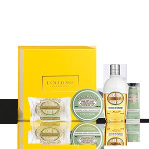 Mandel Geschenkbox mit Wohlfühl-Körperbalsam & Dusch-Shake