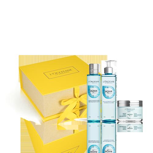 Aqua Réotier Geschenkbox mit ultra-feuchtigkeitsspendender Gesichtscreme