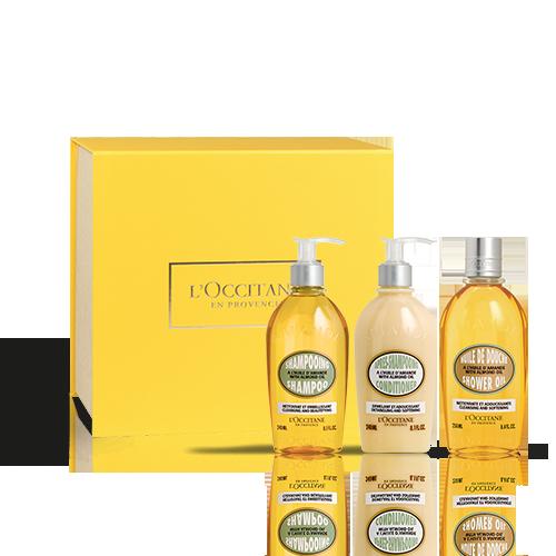 Körper- & Haarpflege-Geschenkbox Mandel