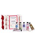 Set mit 6 Geschenkbonbons mit Handcremes 10ml & Accessoire