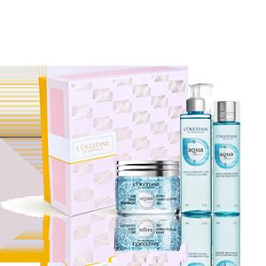 Aqua Réotier Geschenkset mit feuchtigkeitsspendendem Gesichtsgel L'OCCITANE