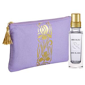 Blaue & Weiße Iris Parfum-Duo für die Reise