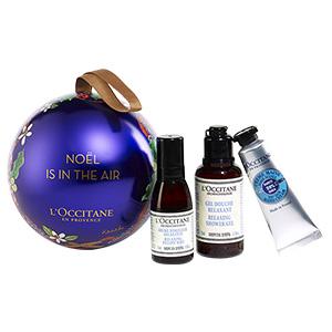 Blaue Weihnachtskugel von L'OCCITANE & My Little Paris