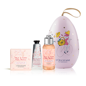 Blumiges Kirschblüte-Osterei - Körperpflege L'OCCITANE