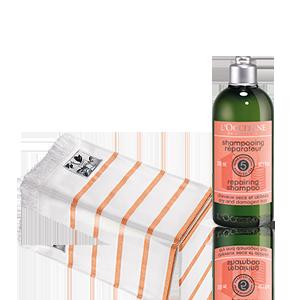 Duo Aromachologie Repair Shampoo und Fouta-Tuch