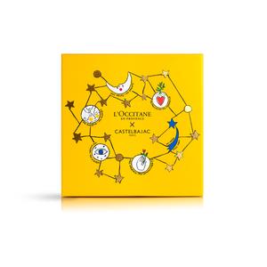 Gelbe Weihnachts-Box