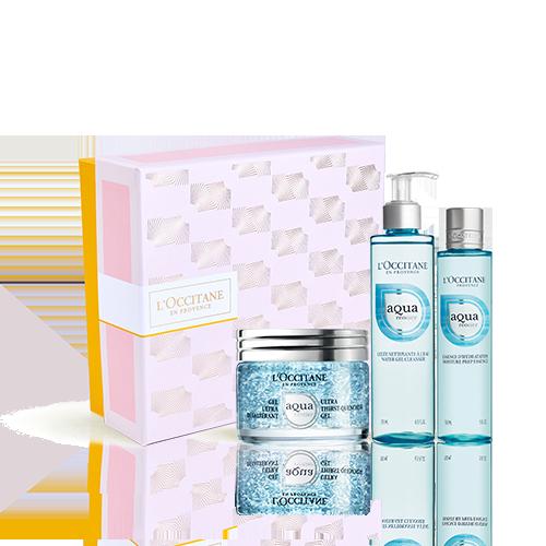 Aqua Réotier Geschenkbox mit ultra-feuchtigkeitsspendendem Gesichtsgel
