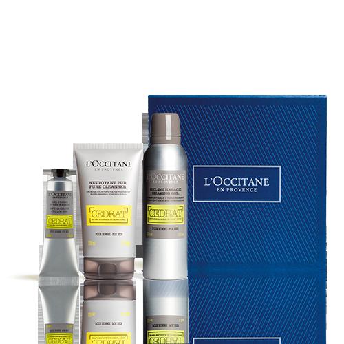 Belebende Rasierpflege-Geschenkbox Cédrat