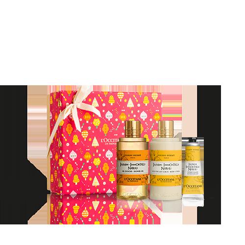 Körperpflege-Geschenkbox Jasmin Immortelle Neroli
