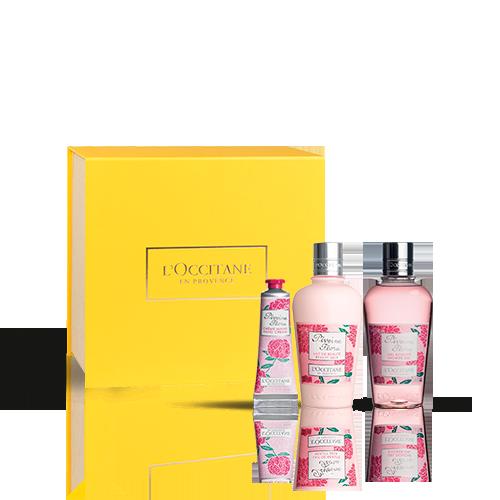 Körperpflege-Geschenkbox Pfingstrose