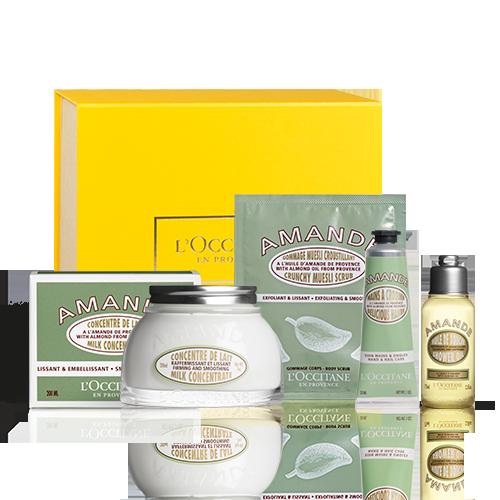 Straffende Körperpflege-Geschenkbox Mandel