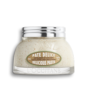 L'Occitane Almond Delicious Paste, an exfoliating body scrub for the entire body