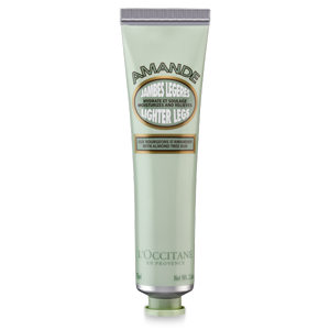 L'Occitane Almond Lighter Legs, an almond smoothing gel cream for help to relieve tired legs