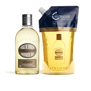 Almond Shower Oil 250ml & Eco-Refill Duo - L'Occitane