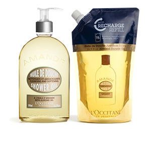 Almond Shower Oil 500ml & Eco-Refill Duo - L'Occitane