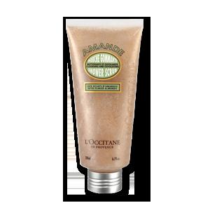 L'Occitane Almond Shower Scrub, an almond exfoliating scrub to gently cleanse and exfoliate the skin