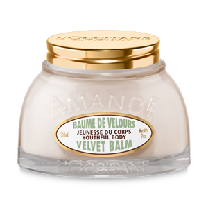 L'Occitane Almond Velvet Balm, a body balm to make skin appear more even and smooth