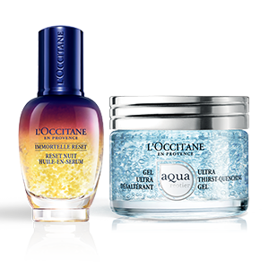 Aqua Réotier Gel Overnight Reset Duo - L'Occitane