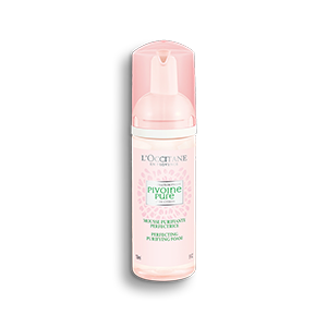 L'Occitane Peony Purifying Perfecting Foam, an face wash for oily skin to cleanse pores