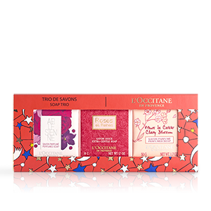 Holiday Floral Soap Trio - L'Occitane