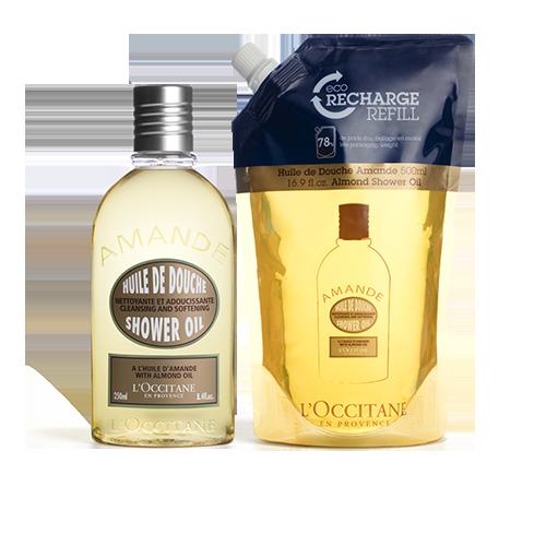 Almond Shower Oil 250ml & Refill Duo