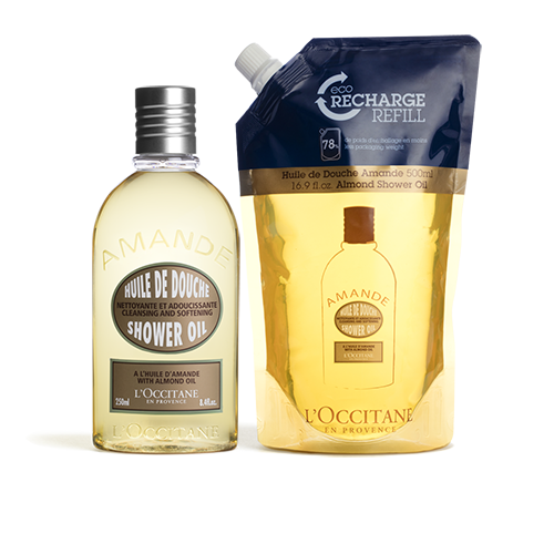 Almond Shower Oil 250ml & Refill Duo