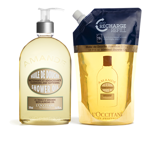 Almond Shower Oil 500ml & Eco-Refill Duo