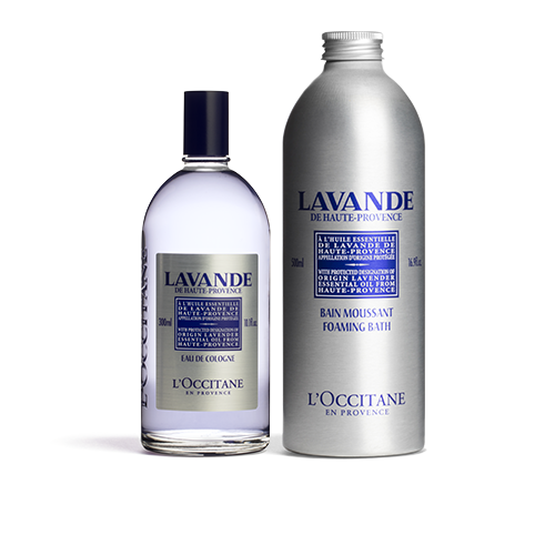 Lavender Foaming Bath & Cologne Duo