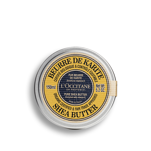 Organic certified* and fair trade approved * Pure Shea Butter 150ml