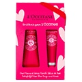 Natural lip balm and shea butter hand cream duo rose scented
