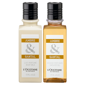ambre santal body care duo la collection de grasse l 39 occitane en provence united kingdom. Black Bedroom Furniture Sets. Home Design Ideas