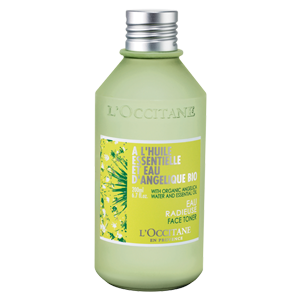 Angelica hydrating face toner for combination and oily skin types.