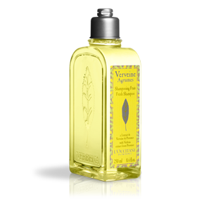 Fresh & Lemony shiny hair shampoo with verbena extract. Daily use natural shampoo