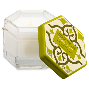 Luxury lemon verbena scented French candles from L'OCCITANE