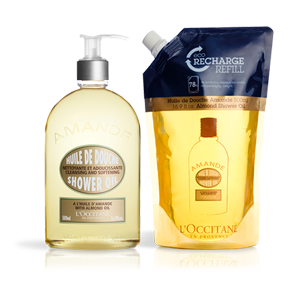 Luxury Almond Shower Oil Eco Duo