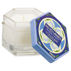 Luxury lavender scented French candles from L'OCCITANE