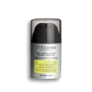 mattifying face moisturiser for men with refreshing and revitalising scent of lemon, cedrat
