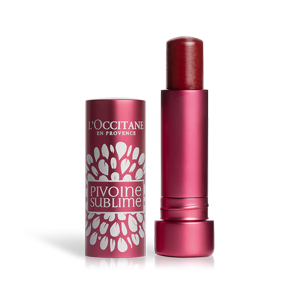 L'Occitane Tinted Lip Beauty Balm, a plum lip balm for nourishing lips