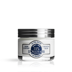 Shea Butter rich face moisturiser for sensitive dry skin. Discover L'OCCITANE skin care products