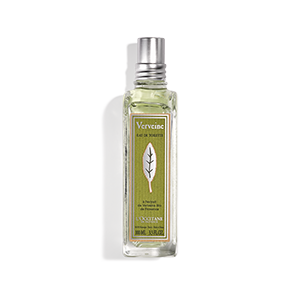 Citrus lemon scented perfume eau de toilette with organic verbena extract, orange, rose and geranium