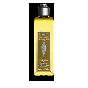 Lemony verbena bath soak for a fresh bubble bath