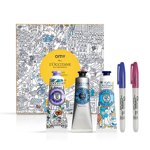 Colourable OMY Illustrated Hand Cream Trio