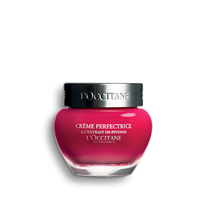 L'Occitane Peony Perfecting Cream, a hydrating face cream for a luminous complexion